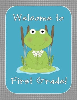 Welcome To First Grade Poster