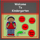 Welcome To Kindergarten!  6 Easy Prep Literacy Centers