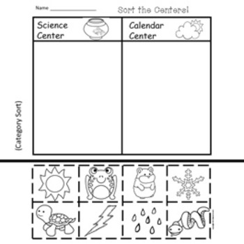 Welcome To Kindergarten!  6 Easy Prep Literacy Centers