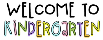 Welcome To Kindergarten Graphic