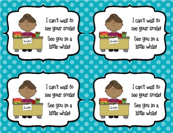 "Back to School Postcards from Teacher ""Welcome To My Class"""