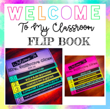 Welcome To My Classroom FLIP BOOK (EDITABLE)