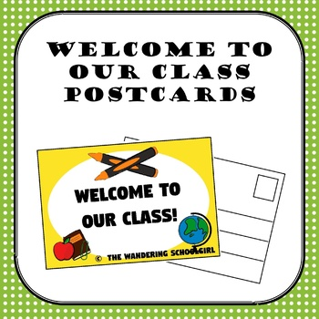 Welcome To Our Class Postcard