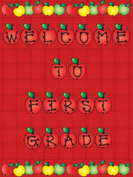 Welcome To Our Class Posters With Apple Theme