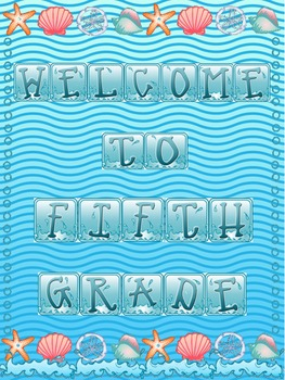 Welcome To Our Class Posters With Wave/Splash/Beach Theme