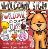Welcome To Our Classroom Door Sign Display Farm Animals Barn Theme Editable