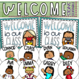 Welcome To Our Classroom Door Sign Staying Healthy Social Distancing Editable