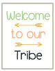 Welcome To Our Tribe - Classroom Posters - MINT, CORAL, NAVY, GOLD