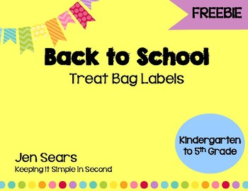 Welcome To School Bag Labels