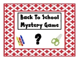 Back to School Mystery Game