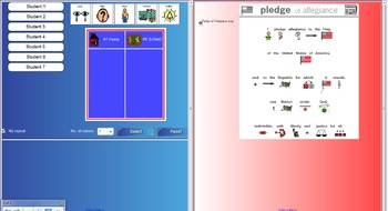 Welcome To School Sign-In & Visual Pledge of Allegiance