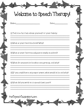 Welcome To Speech Therapy!