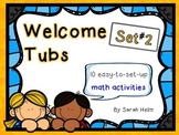 Welcome Tubs--10 Math Stations {Set #2} 2nd grade