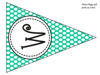 Welcome Turquoise Bunting Banner