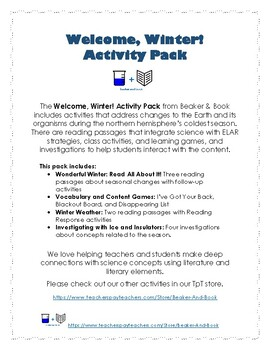 Welcome, Winter! Activity Pack