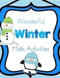 Wonderful Winter! Math Activities
