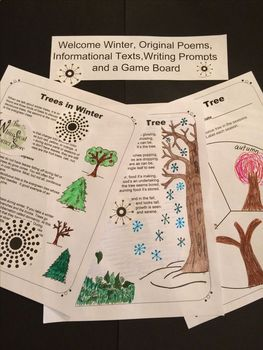 Welcome Winter, Original Poems, Informational Texts, and a Game Board