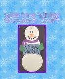 Welcome Winter Snowman Craft
