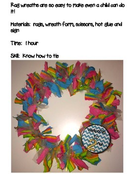 Welcome Wreath with Chevron Labels