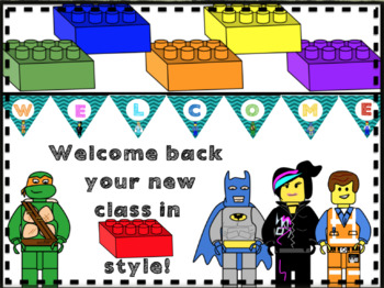 Welcome back banner-Lego like block theme