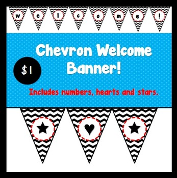 Welcome Back To School Bunting Banner {Chevron}