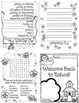 Back to School!!  Student Booklet