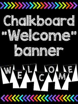 Welcome banner - Chalkboard version!