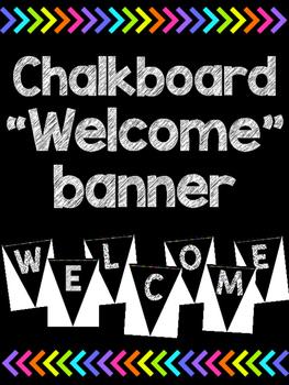 Welcome banner - Chalkboard version!