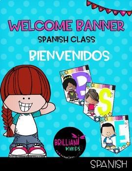 Welcome banner in Spanish / Bienvenidos (Melonheadz)