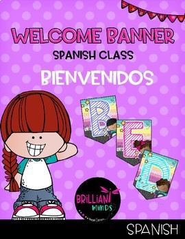 Welcome banner in Spanish / Bienvenidos (SAY CHEESE Creating4theclassroom)