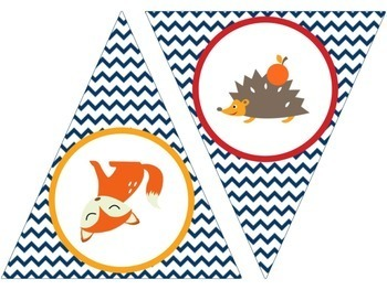Welcome bunting - Woodland creatures (fox, squirrel, owl, hedgehog)