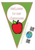 Welcome bunting - apple theme