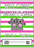 Welcome bunting flags - koala theme
