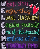Welcome classroom sign