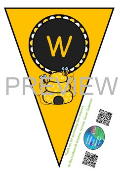 Welcome flags - bee theme