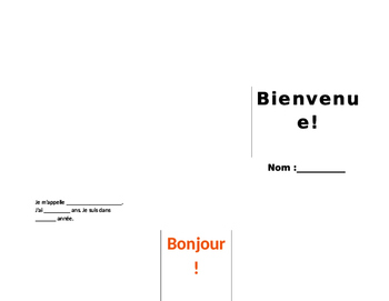 Welcome for Student Teacher en Francais