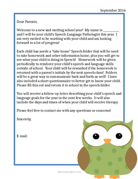 Speech Welcome Letters Worksheets & Teaching Resources | TpT