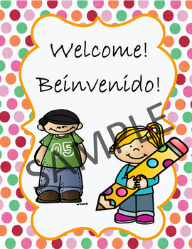 Welcome letter and All About Me in Spanish and English