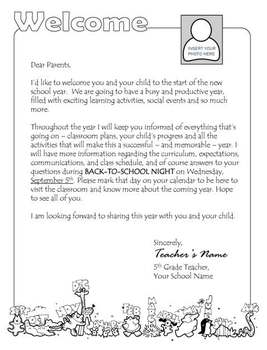 original-504345-1 Teacher Welcome Letter Middle Template on parent welcome, parent introduction, appreciation thank you, welcome back, free new, thank you, gift donation, end year,