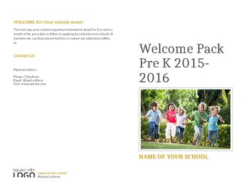Welcome pack for new parents to EYFS