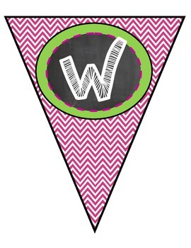 Welcome pennant for B2 School
