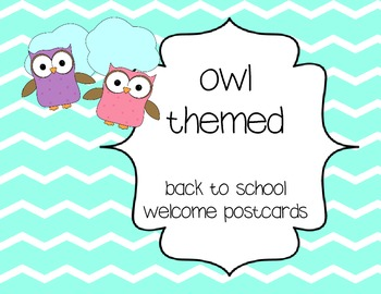 Welcome postcards - owl themed