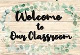 Welcome sign Eucalyptus Decor Editable Sign Back to School