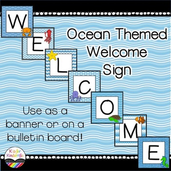 Welcome sign / banner : Ocean Themed