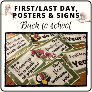 Welcome signs, motivation posters and start of year posters