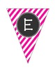 "Welcome to ""1st-5th"" Grade Banner Hot Pink Chevron, Stripes & Polka Dots"
