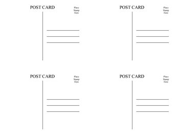 Welcome to 1st Gr Postcards (printable)