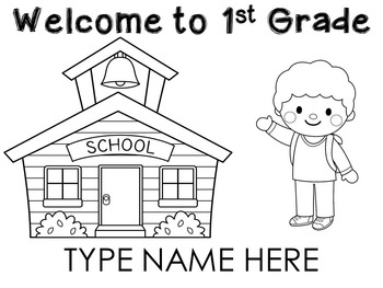 Welcome to 1st Grade Name Sheets l Back to school
