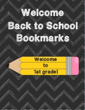 Welcome to 1st Grade Bookmarks