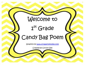 Welcome to 1st Grade Candy Bag Poem